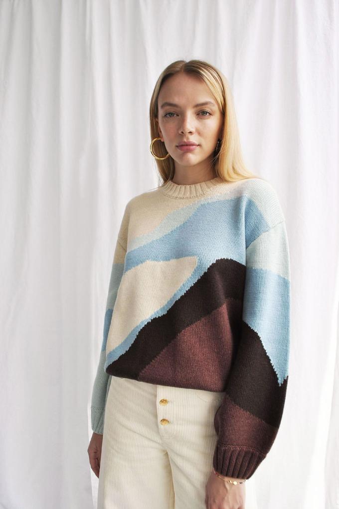 House of Sunny Landscape Knit Sweater