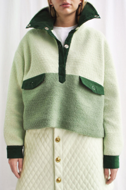 House of Sunny Pullover Teddy Jacket