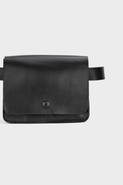 Rita Row Kidney Bag in Black