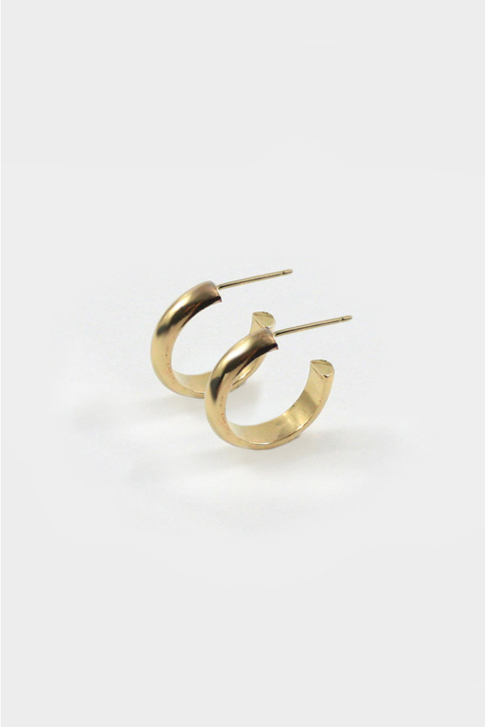 Merewif Jane Hoops in Gold