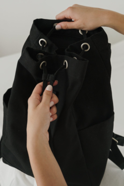 Baggu Drawstring Backpack in Black