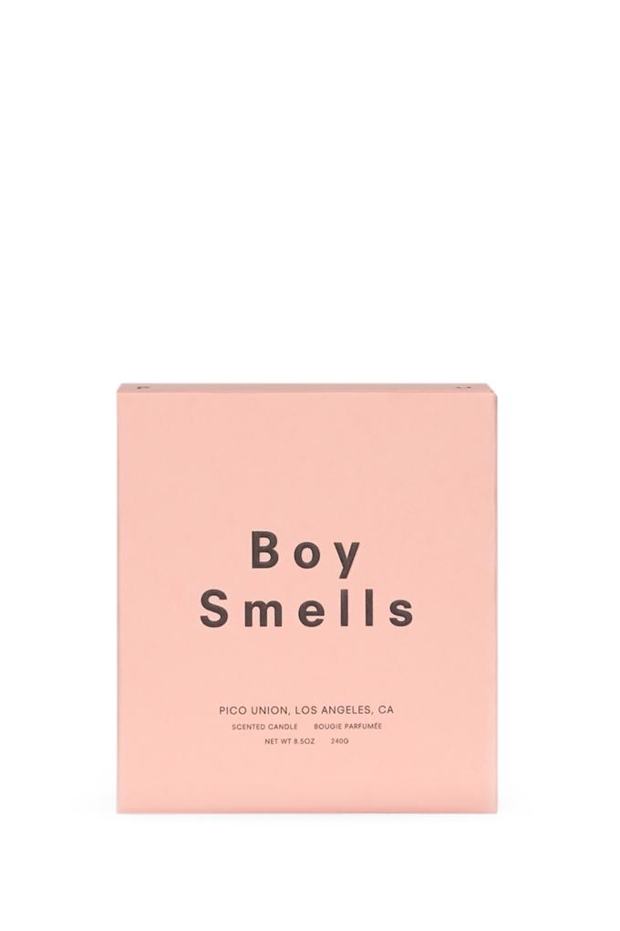 Boy Smells Prunus Candle