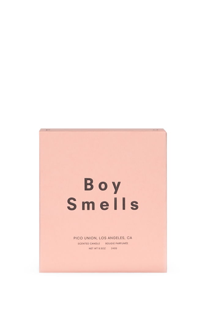 Boy Smells Ash Candle