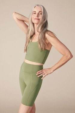 Girlfriend Collective High Rise Bike Short in Olive