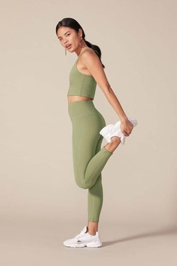 Girlfriend Collective High-Rise Compressive Legging in Olive