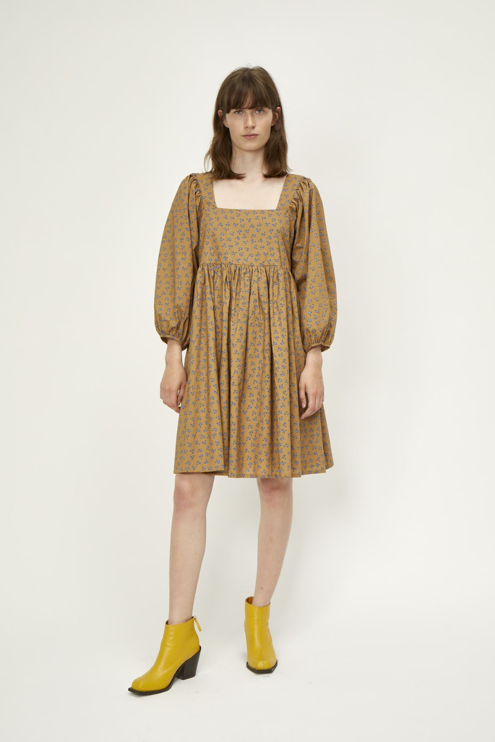 Just Female Merle Dress in Snowdrop Khaki