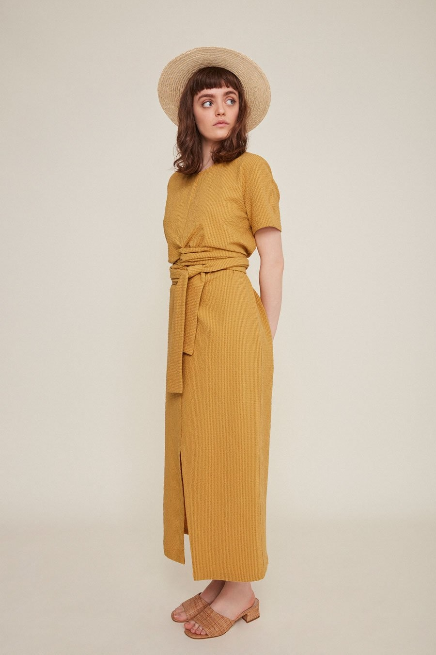 Rita Row Jianna Dress in Mustard