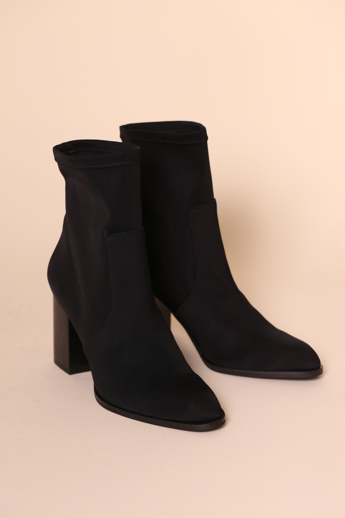 Intentionally Blank Janet Boot in Black Scuba