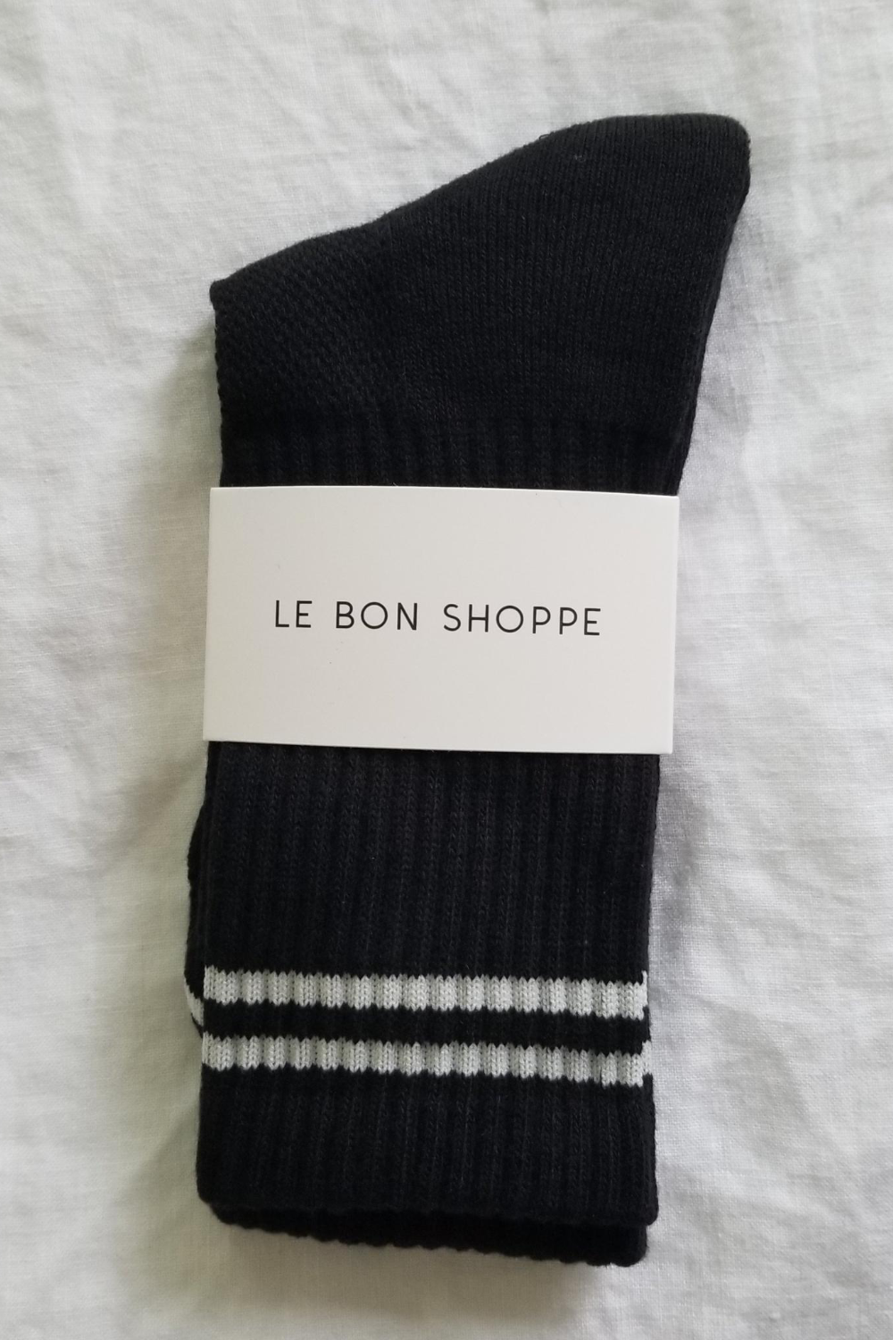Le Bon Shoppe Boyfriend Socks in Noir