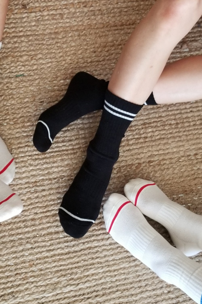 Le Bon Shoppe Boyfriend Socks in Noir