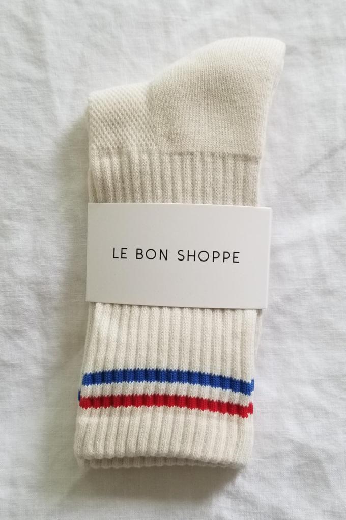 Le Bon Shoppe Boyfriend Socks in Milk