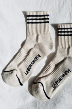 Le Bon Shoppe Girlfriend Socks in Oatmeal