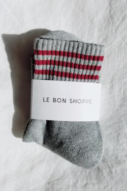 Le Bon Shoppe Girlfriend Socks in Heather Grey