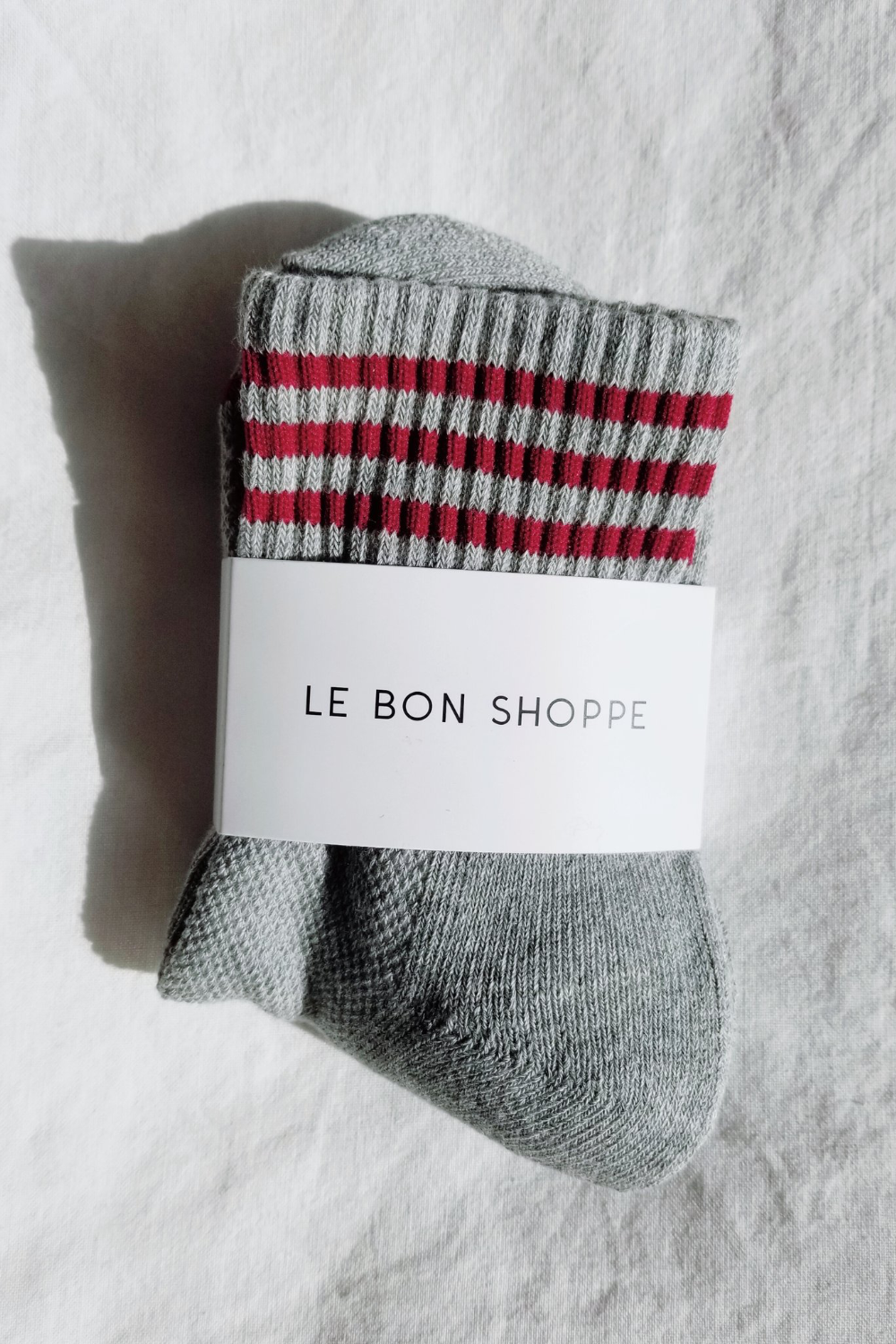 Le Bon Shoppe Girlfriend Socks in Heather Grey