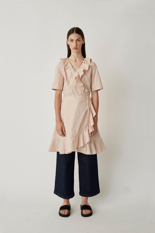 Just Female Tulina Wrap Dress in Sepia Rose