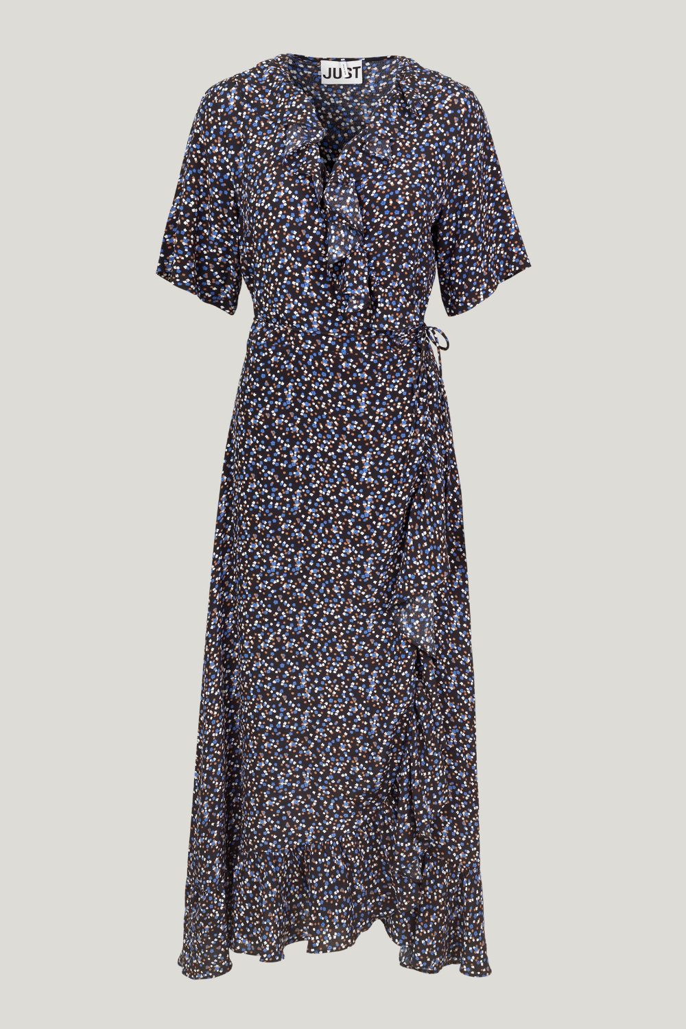 Just Female Lassy Maxi Wrap Dress in Little Flower Print