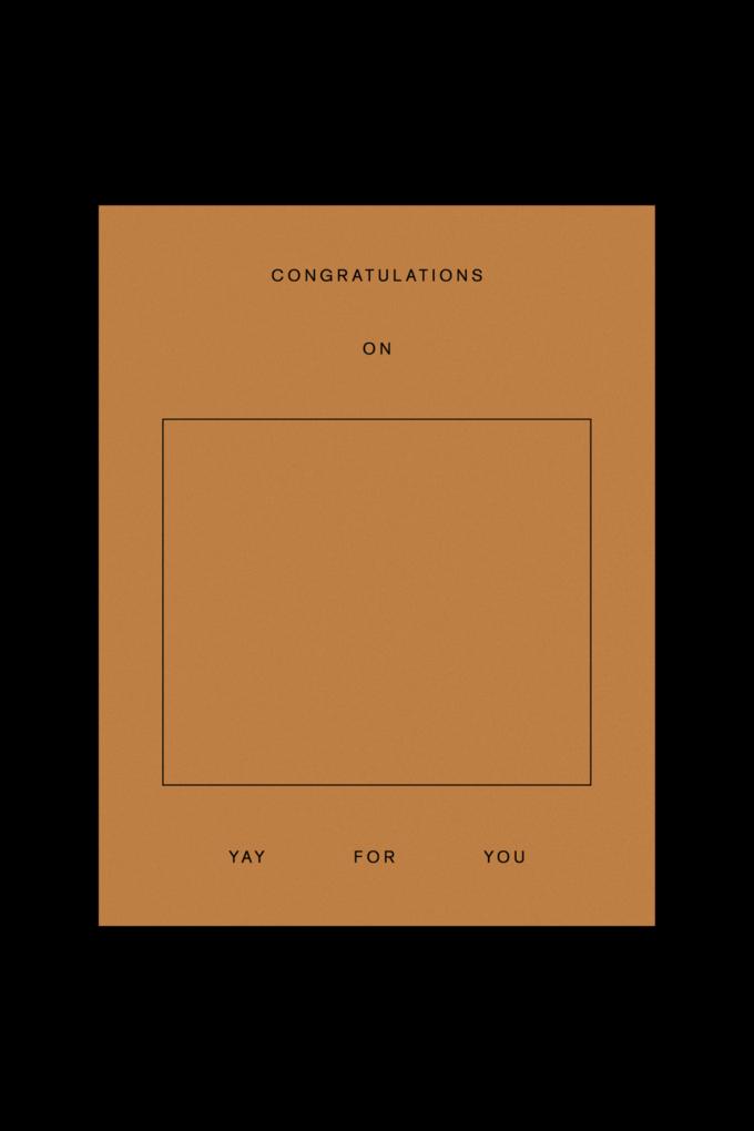 Goods Gang Congratulations On _____ Card