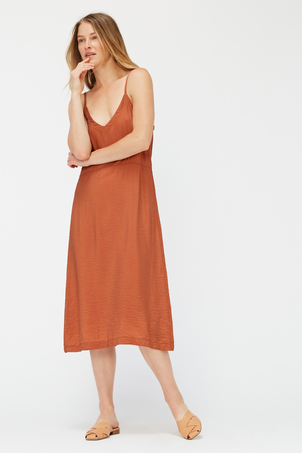 Lacausa Alma Slip Dress in Almond