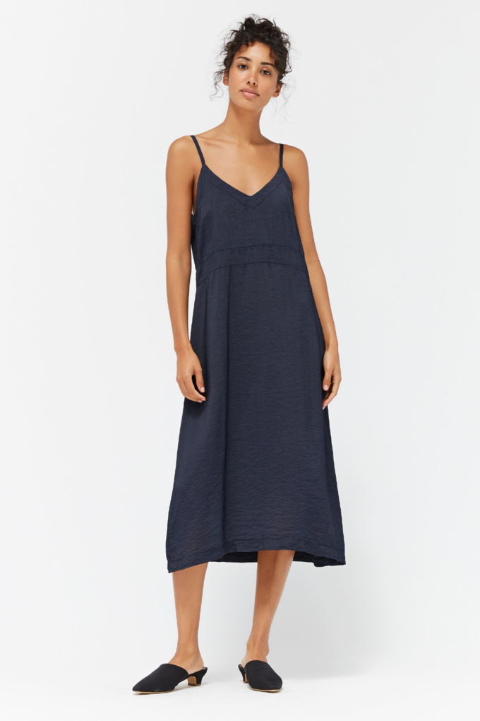 Lacausa Alma Slip Dress in Ink