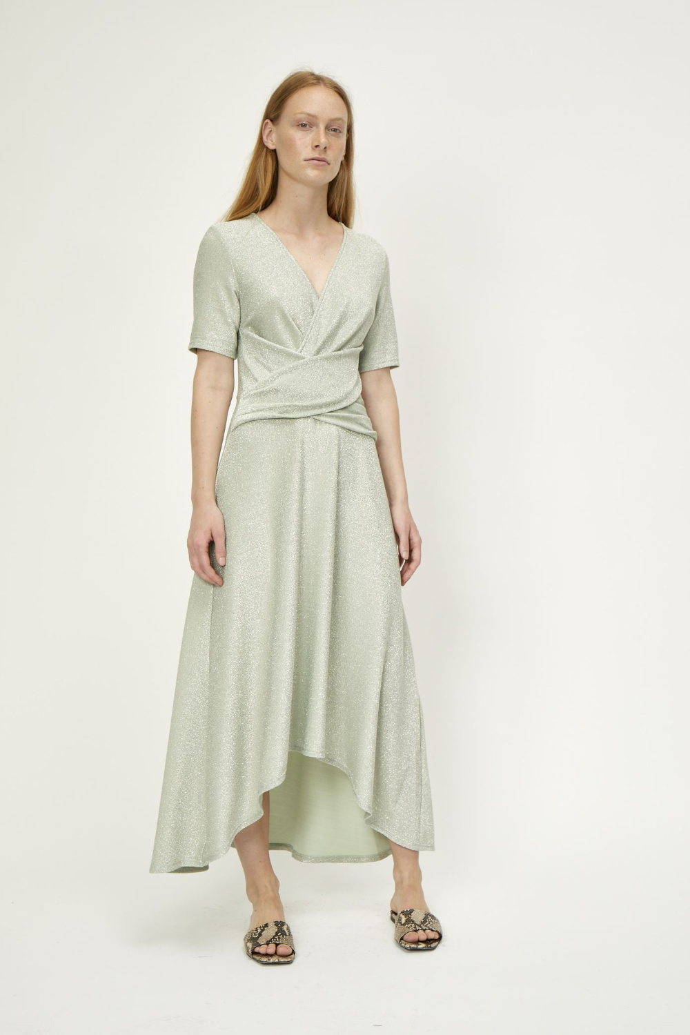 Just Female Utopio Dress in Celadon Green