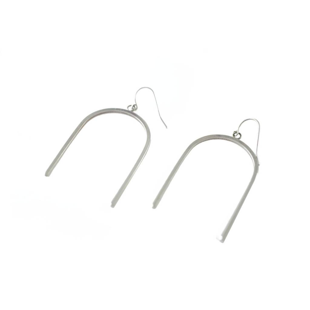 EM Jewelry+Design Tetra Earrings in Silver