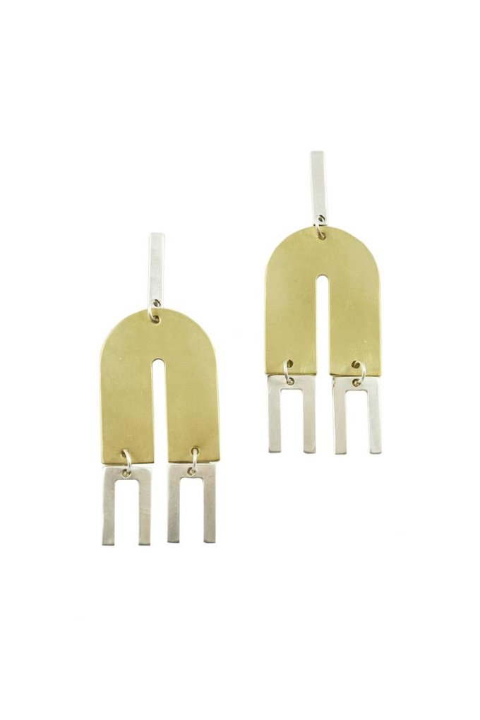 Natalie Joy Arc + Line Earrings
