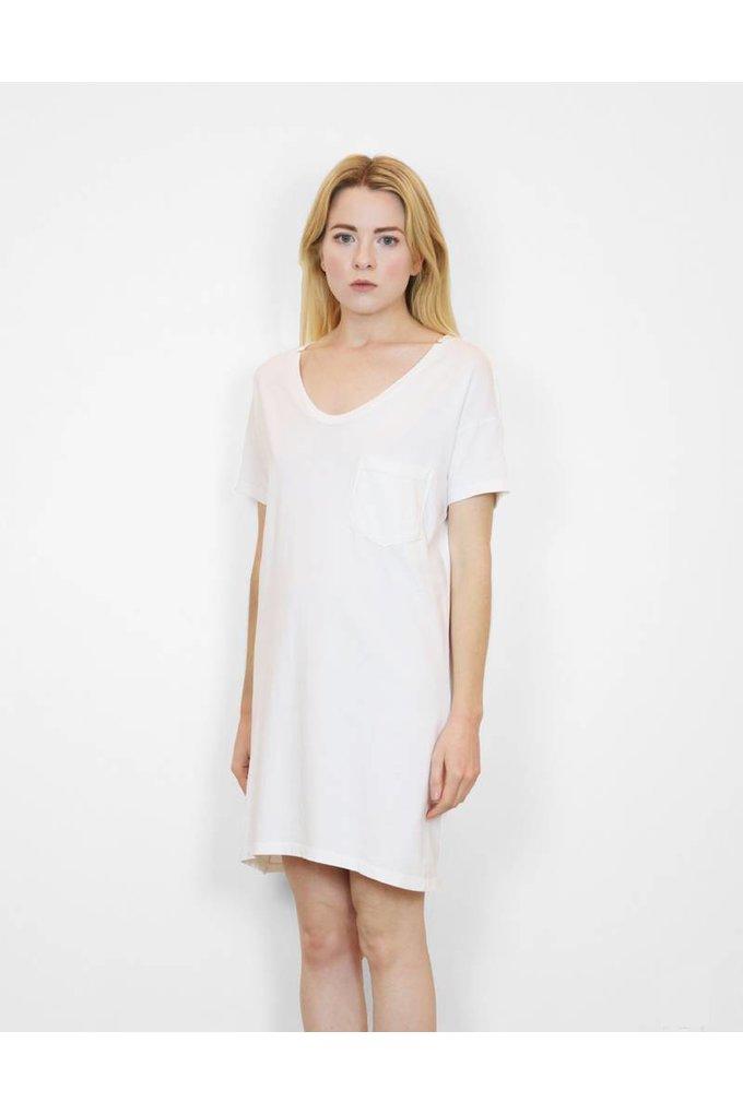 SkarGorn #60 Tee Dress in White Wash