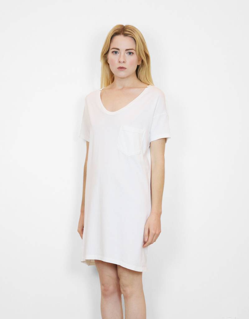 SkarGorn #60 Tee Dress in White Wash