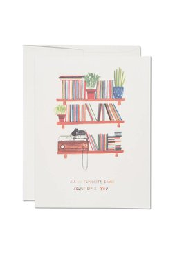 Red Cap Cards Love Songs Card
