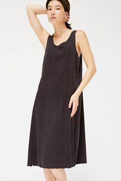 Lacausa Reversible Silk Dress in Tar