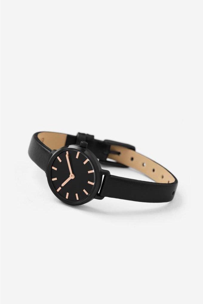 Breda Beverly Watch in Black + Black