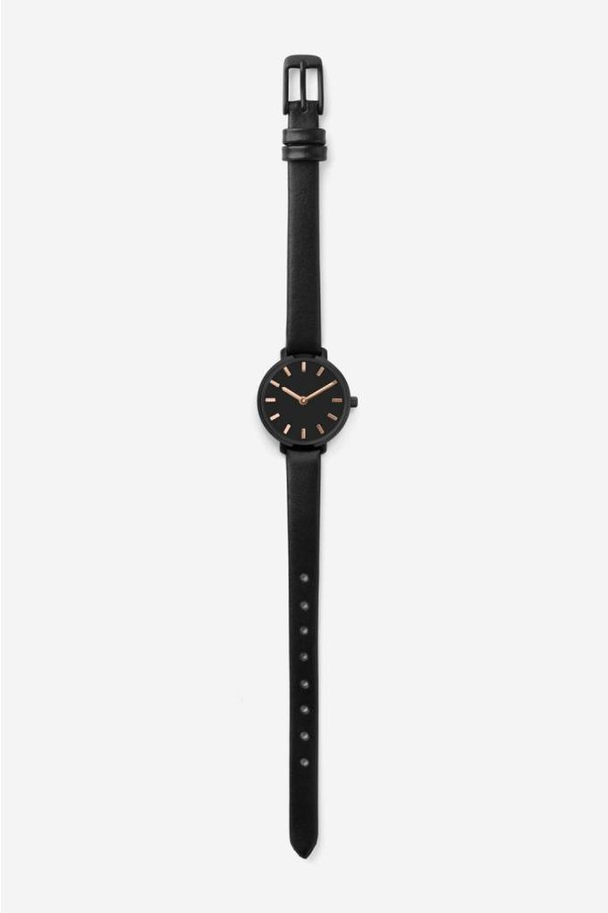 Breda Beverly Watch in Black + Black