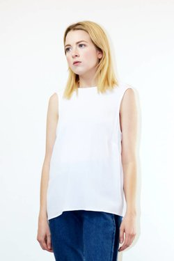 Just Female Maise Top in Bright White