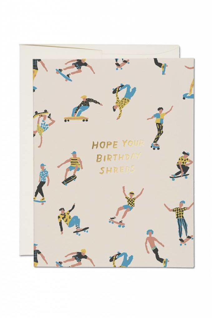 Red Cap Cards Shreds Birthday Card