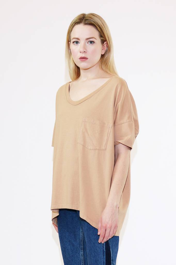 SkarGorn #61 Tee in Camel Wash