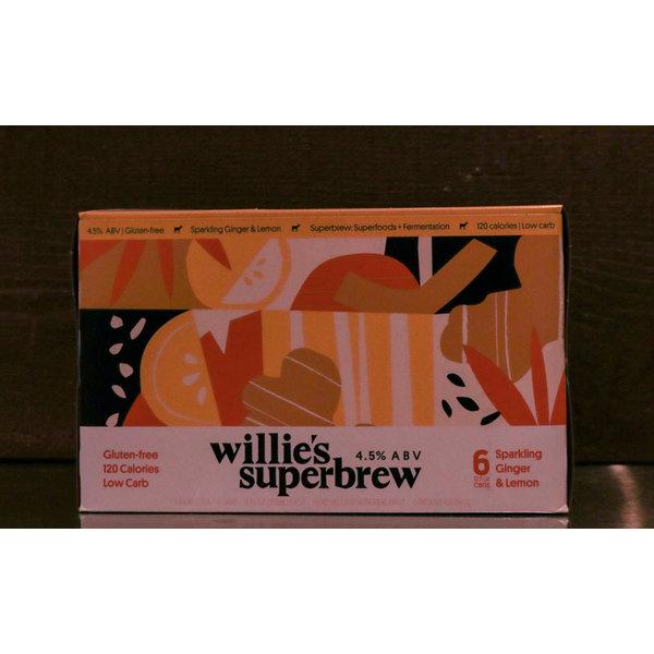 WILLIE'S SUPERBREW LEMON GINGER 6PK
