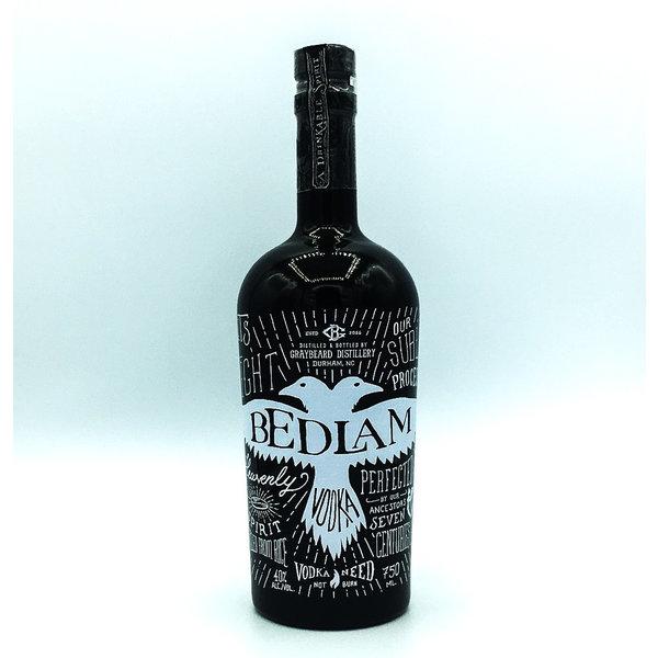 Graybeard Distillery BEDLAM VODKA of WHITE RICE GLUTEN FREE 750ML