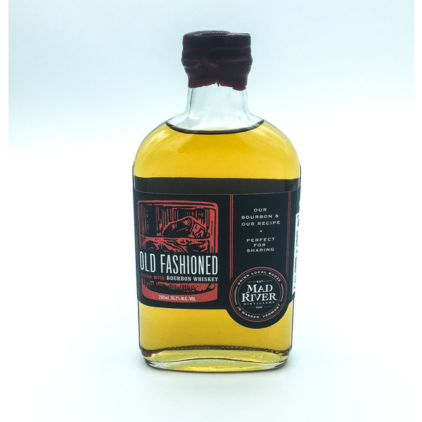 Mad River Distillers MAD RIVER BOURBON 'OLD FASHIONED' PRE-MADE COCKTAIL HALF PINT 200ML