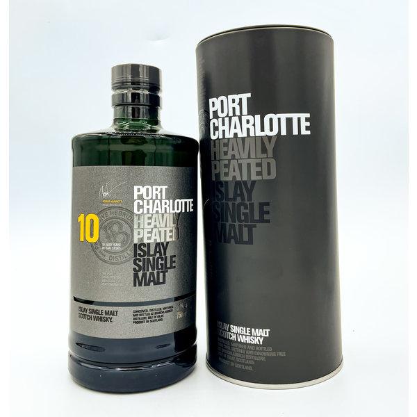 BRUICHLADDICH 'PORT CHARLOTTE' 10YR HEAVILY PEATED SCOTCH 750ML