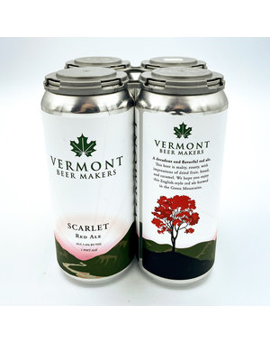 VERMONT BEER MAKERS SCARLET RED ALE 4PK