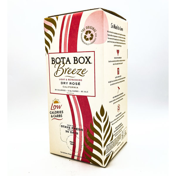 BOTA BOX 'BREEZE' DRY ROSÉ LOW-CAL & CARBS 3L
