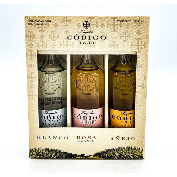 CODIGO TEQUILA VARIETY 3PK BLANCO/ROSA/AÑEJO 50ML