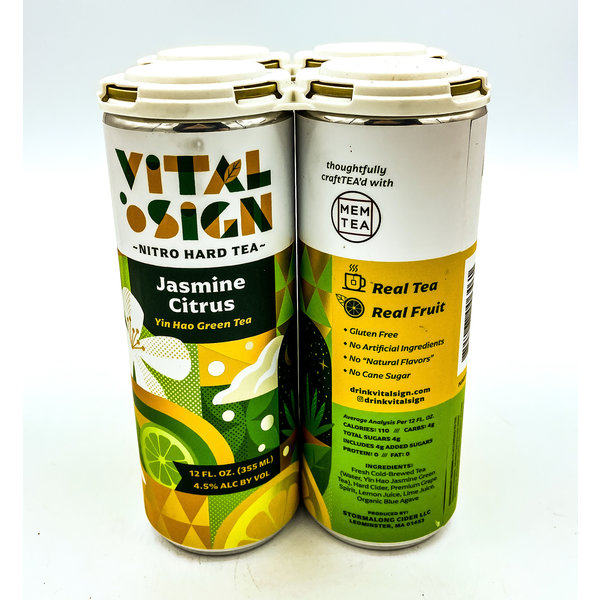 VITAL SIGN JASMINE CITRUS NITRO HARD TEA 4PK