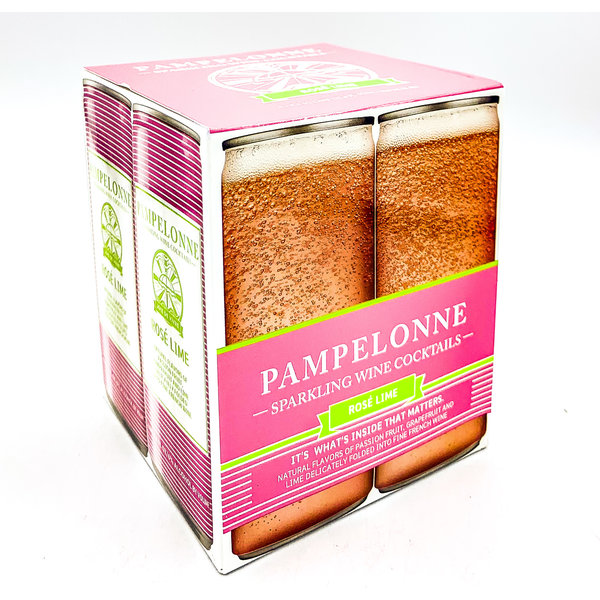 PAMPELONNE 'ROSÉ LIME' FRENCH CANNED WINE COCKTAIL 4PK