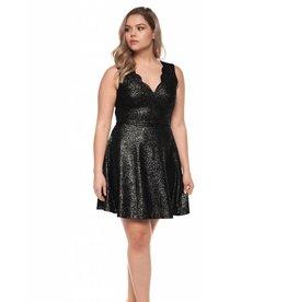 Dex Scalloped Neckline Dress