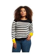 Dex Contrast Cuff Sweater