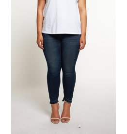 Dex Slanted Frayed Hem Jean