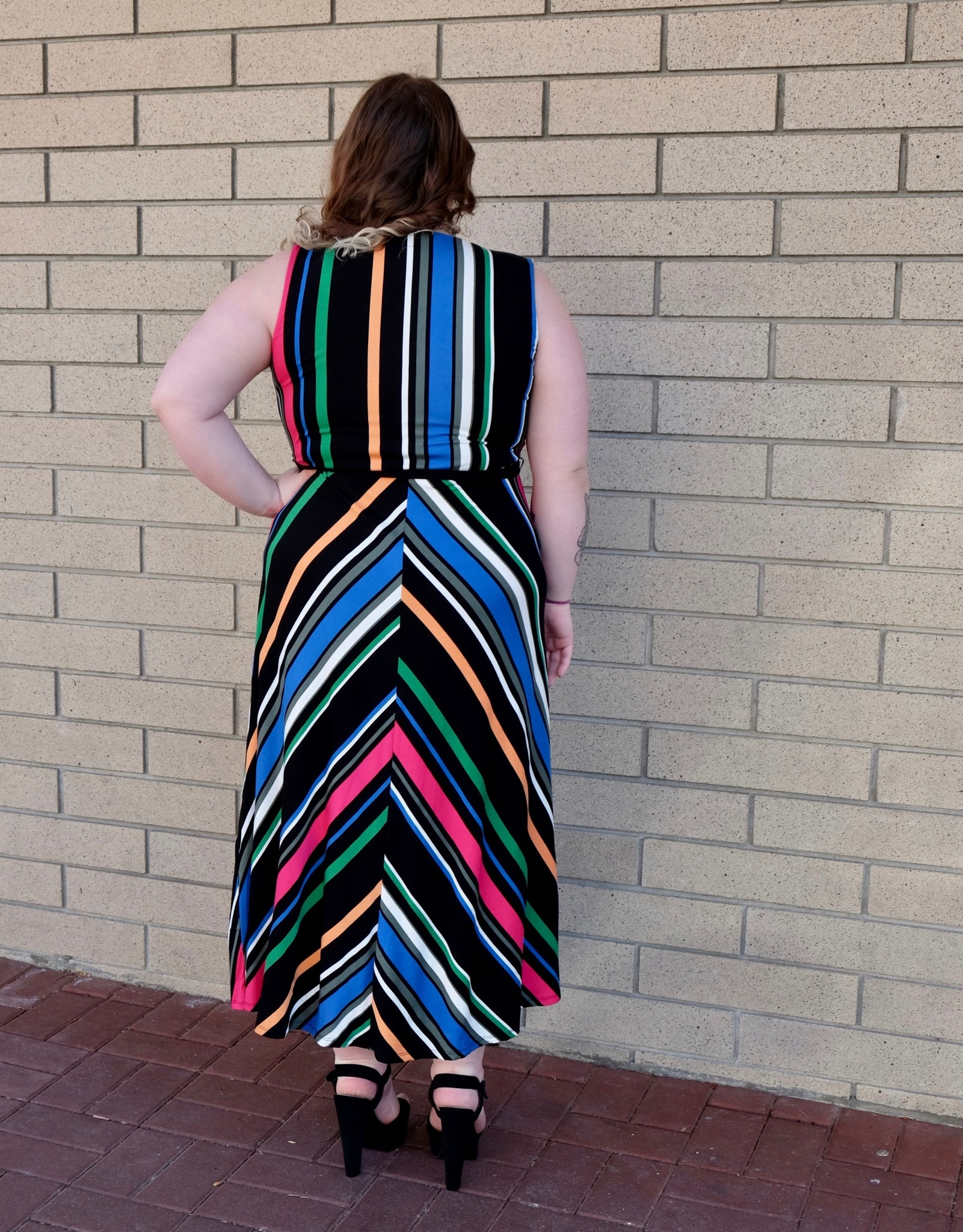 Dex Multi Stripe Dress