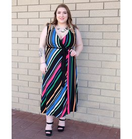 Dex Multi Stripe Dress