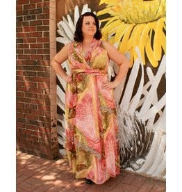 London Times Susan Chiffon Maxi Dress